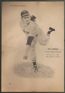 Boston-Red-Sox-Bobby-Doerr-Mel-Parnell-cut-B-W-photo-measuring-7-034-x-10-034
