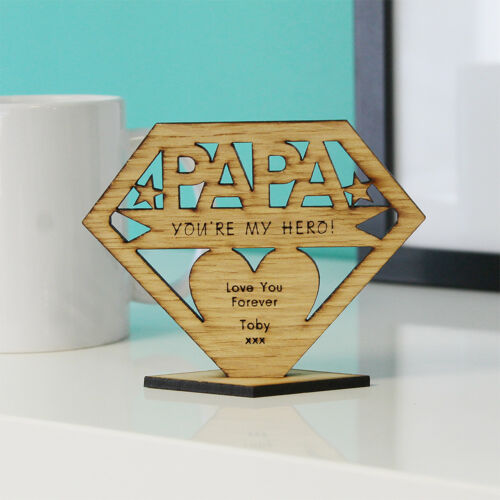 Personalised GRANDAD You/'re My Hero Father/'s Day Keepsake Ornament Birthday Gift