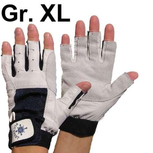 10 ohne Finger Rigger Gloves Bühnenbau XL BluePort Roadie Handschuhe Leder Gr