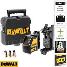 Dewalt DW088CG Green Cross Line Laser Level Self Levelling – Includes Bracket
