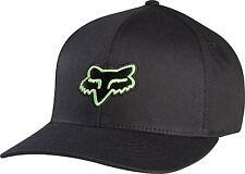 official photos 4628d a0a8b Fox Racing Mens Guys Legacy Flexfit Hat Black Fox Head Logo Ball Cap