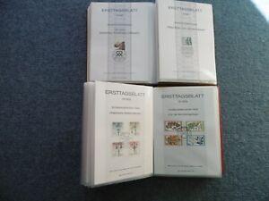 156-Ersttagsblaetter-Briefmarkensammlung-1979-1983-BRD-Berlin-2-Alben