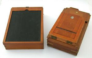 Posten lot wooden sheet film holder Planfilm Kassette Holz cassette 7 pcs /21