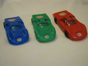 3-Modellini-Porsche-Carrera-in-plastica-della-PM-scala-1-25-Made-in-Italy