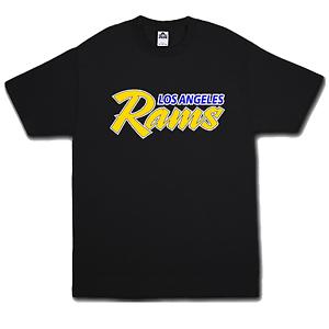 Los Angeles Rams Shirt with Throw Back logo Cali LA socal Dub 213 OG Horns up CA