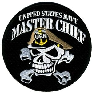 navy master chief petty officer skull bones embroidered 4