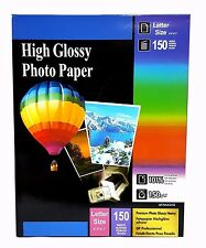 """Premium Glossy Inkjet Photo Paper 8.5""""x11"""" Letter Size 150 sheets Weight 150gsm"""