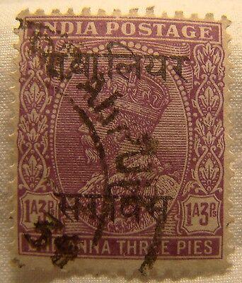 Sanft Indischem Gwalior Briefmarke 1933 Scott O43 A69 Im In Gekonntes Stricken Und Elegantes Design BerüHmt Zu Sein Und Ausland FüR Exquisite Verarbeitung