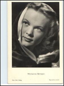 DDR-Postkarte-Kino-Buehne-Film-Foto-Verlag-Schauspielerin-AK-Marianne-Simson
