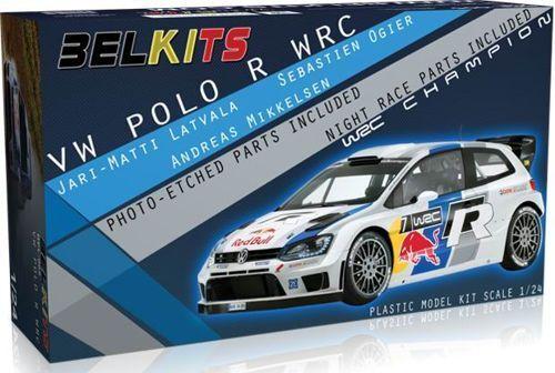 Belkits 1  24 Volkswagen Polo R röd Bull WRC BEL -005