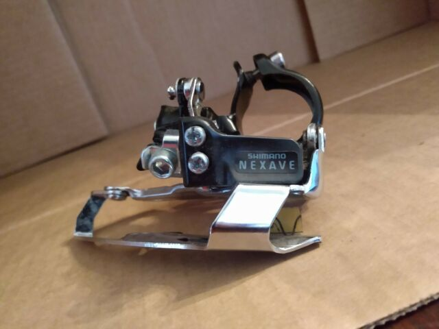 Shimano Nexave FD-T400 Front Derailleur 28.6mm Clamp Bottom Pull Silver