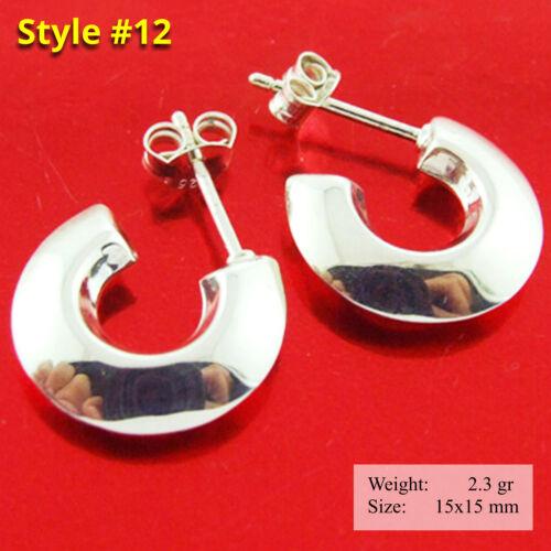 Hoops Earrings Real 925 Sterling Silver Ladies Studs Drops Dangle Hook Design
