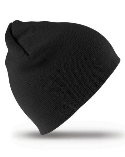 Result Hiver Beanie Chapeau Doux Chaud Plain Enfiler Unisexe Femme Homme