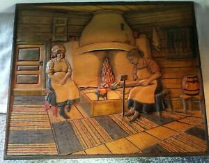 Wood-Relief-Carved-Wood-Panel-Eric-Karlsson-Storgatan-39-Vetlanda-Sweden