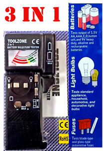 Multi-battery-Bulb-and-Fuse-Testeur-3-in-1-1-5-V-AAA-AA-9-V-pp3-Good-Quality