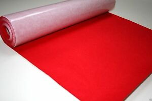 Self Adhesive Felt Baize Fabric Mini Rolls - CHERRY