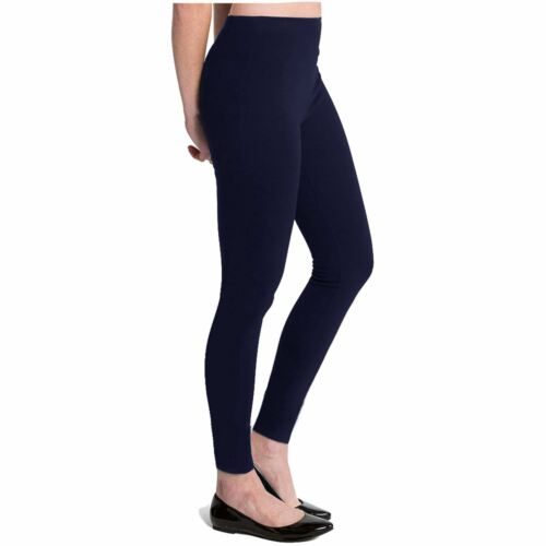 WOMENS LADIES FLEECE LEGGING SKINNY FIT THICK WARM WINTER THERMAL TROUSERS 8-14