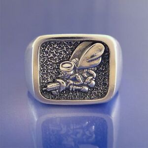 navy seabees ring solid sterling silver 37 24