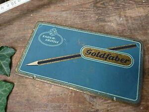 Johann-Faber-Goldfaber-Box-Old-Tin-Can-Aw-Faber-Castell-Empty