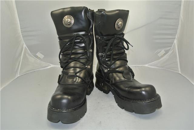NEW STRAPS ROCK ORIGINALS BLACK Stiefel 4 STRAPS NEW ZIP SIZE 11 UK 7e45ec