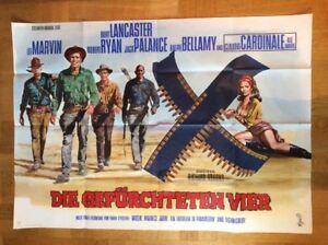 Gefuerchteten-Vier-A0-Plakat-039-66-Burt-Lancaster-Lee-Marvin-C-Cardinale
