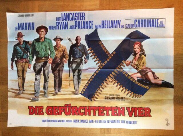 Gefürchteten Vier (A0-Kinoplakat '66) - Burt Lancaster / Lee Marvin