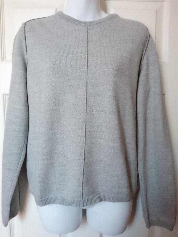 Armani Jeans Womens Jumper size L grey original VGC wool blend