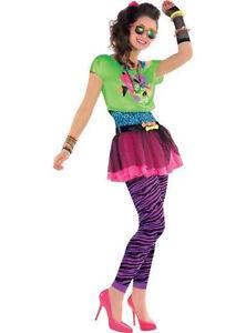 Teenage-girls-80s-Totally-Awesome-Pink-Tutu-Fancy-  sc 1 st  eBay & Teenage girls 80s Totally Awesome Pink Tutu Fancy Dress Costume 10 ...