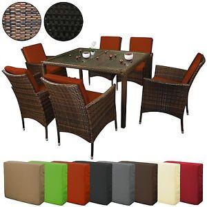 19 teilige polyrattan essgruppe margarita 6 personen rattan garnitur gartenm bel ebay. Black Bedroom Furniture Sets. Home Design Ideas