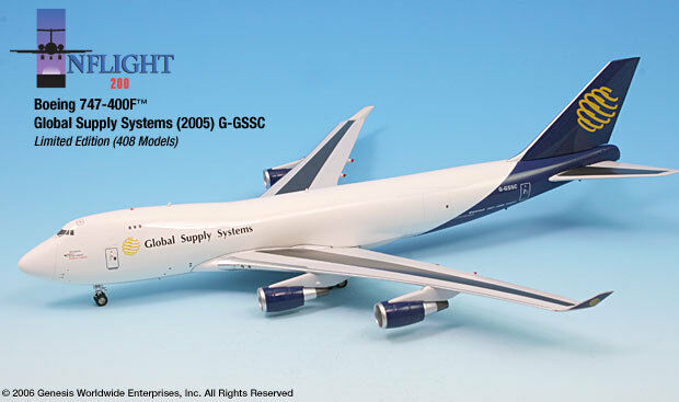 InFlight200 Global Supply Systems GSS G-GSSC Boeing 747-400F 1 200 Scale Diecast