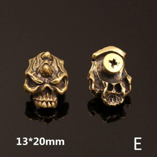 1 Piece Gothic Brass Skull Rivet Stud Back Conchos DIY Leather Craft Bag Decor