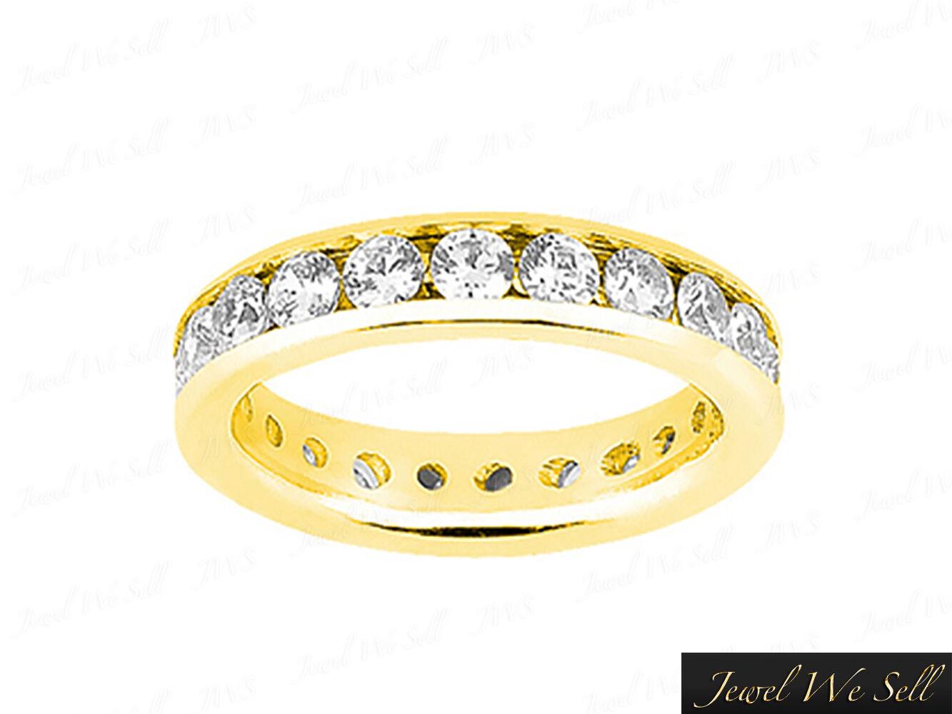 Genuine 1.45Ct Round Diamond Classic Channel Set Eternity Ring 14K gold I SI2