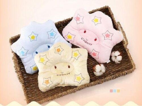 Baby Kopfkissen Schlafkissen antiplatt geg Kopfverformung Kissen Stern 3 Farben