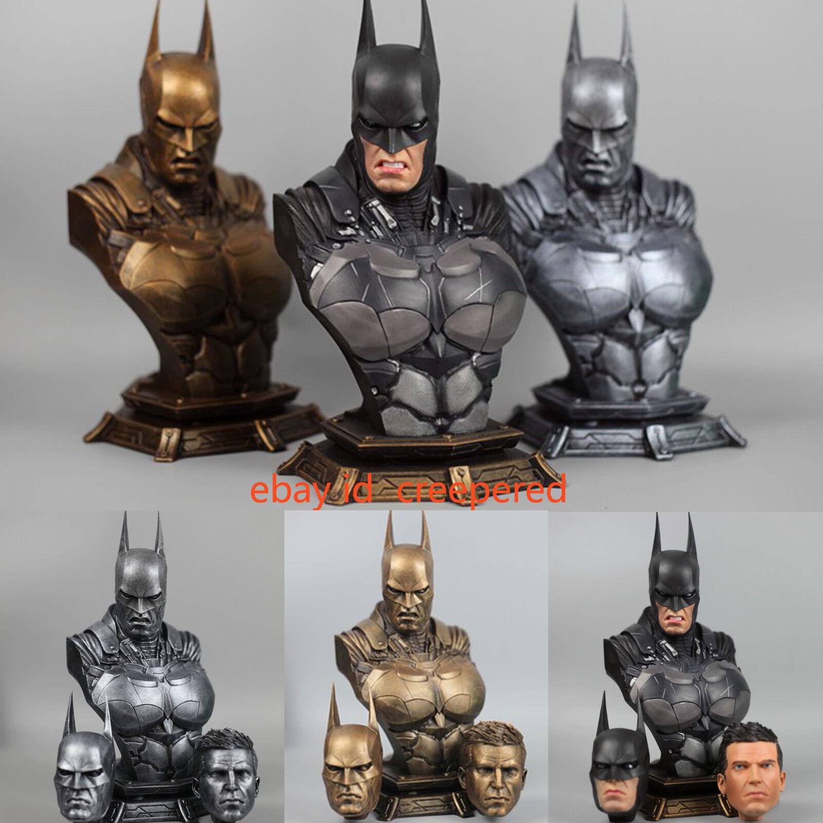 1 3 Batman Scale Action Arkham Dark Knight Dawn of Justice Bust Statue Figure