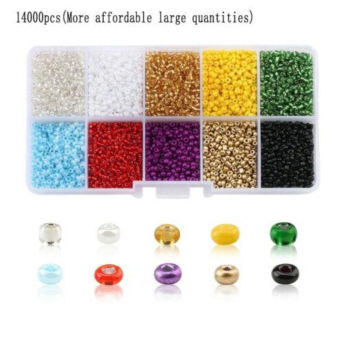 Wholesale 2mm Czech Glass Seed Beads Belt box set charm seedbeads Rondelle Space