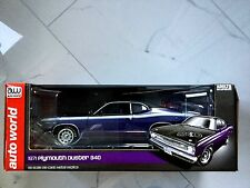 AUTO WORLD 1/18 1971 PURPLE PLYMOUTH DUSTER 340 ITEM # AMM 1052 FACTORY  SEALED