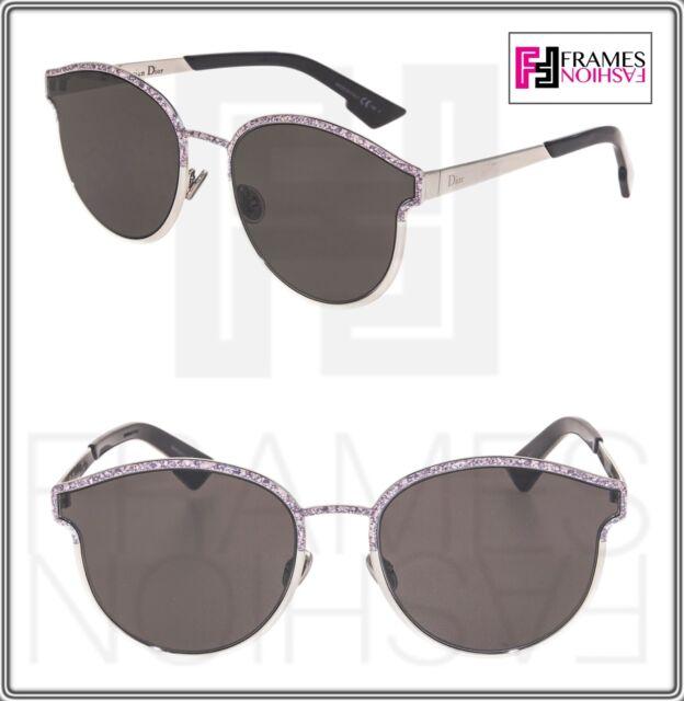71c2edfca0 CHRISTIAN DIOR SYMMETRIC Silver Pink Marble Black Metal Sunglasses  DIORSYMMETRIC