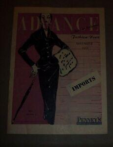 Advance-Fashion-News-Pamphlet-November-1953-By-Penney-039-s