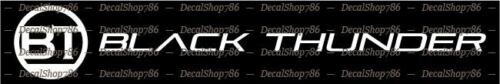 Black Thunder Boats Outdoor Sports Vinyl Die-Cut Peel N/' Stick Decals//Stickers