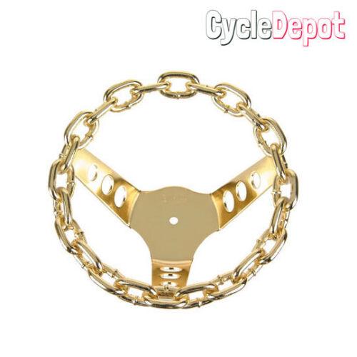 NEW Lowrider Bicycle Chain Steering Wheel Gold Cruisers /& Chopper Trike Bike