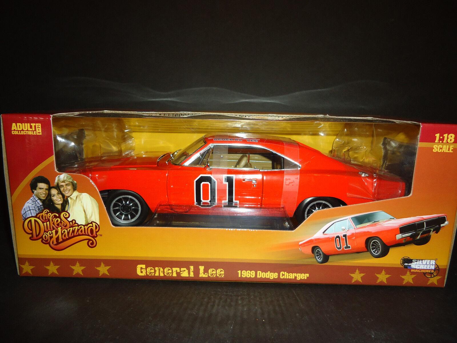 Auto World Dodge Charger 69 Generale Lee Dukes Of Hazzard 1/18 Alto Dettaglio
