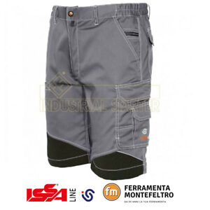 e0722d74ddbae Caricamento dell immagine in corso Pantalone-corto-bermuda-estivo-tecnico -da-lavoro-ISSA-