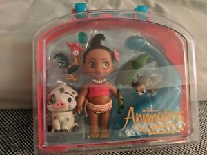 "Disney Animators Collection Moana Mini Doll Play Set 5/"" NEW Animator"