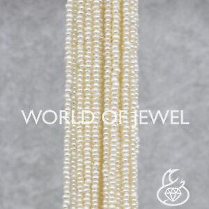 Microperle A 3,5mm World of Jewel Perle Di Fiume Micro Cipolline Bianche