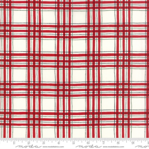 Hearthside Holiday White Red Plaid 19835 12 Fabric Christmas by the 1//2 yard