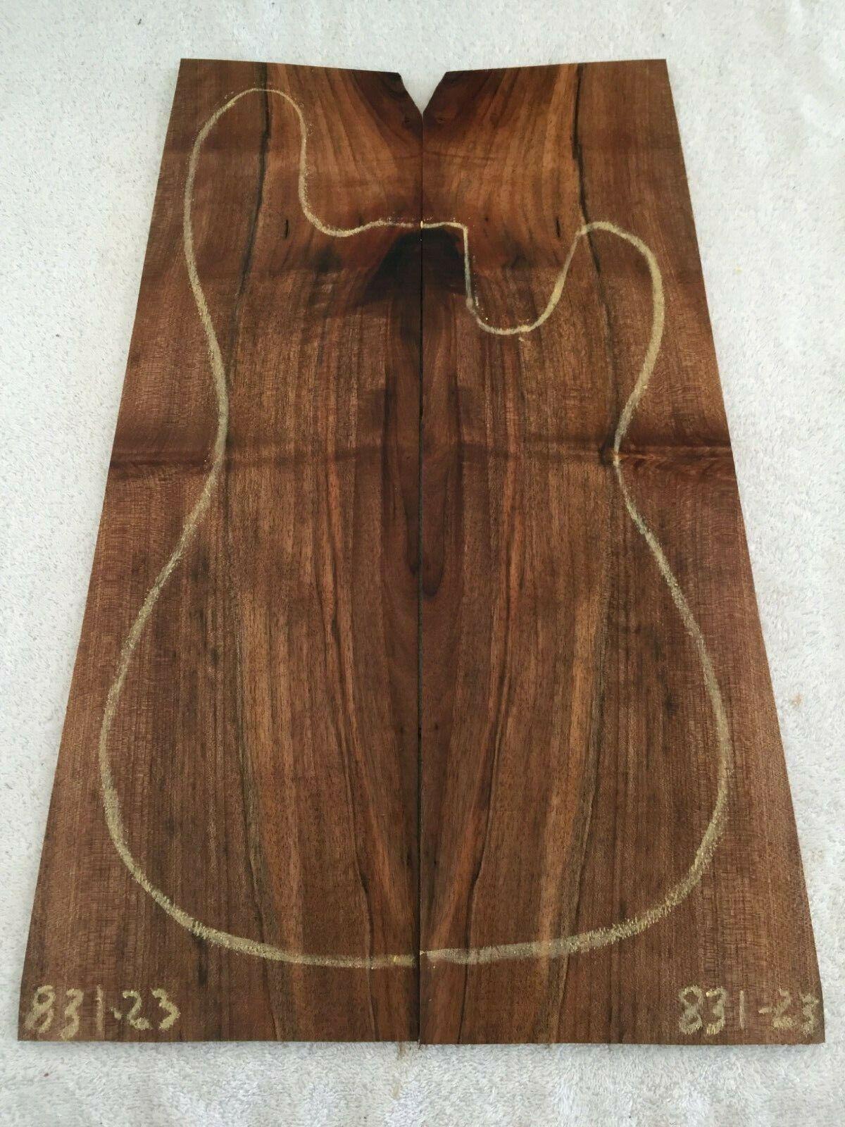 English Walnut book match set guitar tone wood .29 x 12.5 - 16 x 22.75    831-23
