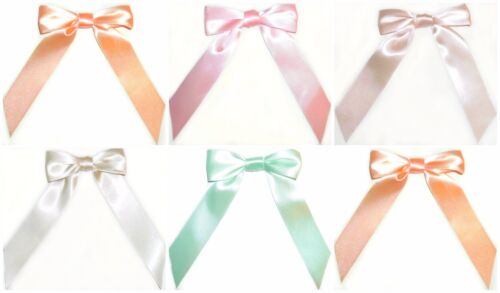 23MM WIDE RIBBON CRAFTS CHOOSE PACK SIZE ART 101008 PRE-TIED SATIN RIBBON BOWS