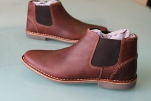 7117524311a Details about NEW MENS STEVE MADDEN 9.5 IMPASS CHELSEA MID BOOTS LEATHER  WOOD BROWN