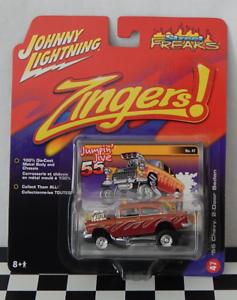 Johnny-Lightning-Street-Freaks-Zingers-47-039-55-Chevy-2-Door-Sedan-Jumpin-039-Jive-55