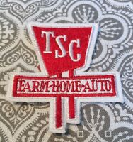 Vintage Farm Patch Tsc Farm Home Auto Embroidered Movie Prop 2 1/2 X 2 1/2 64
